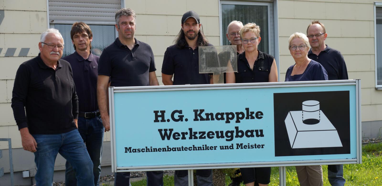 Mitarbeiter Knappke Werkzeugbau - Gruppenfoto